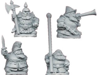 Dwarf Command figs from Crusdaer